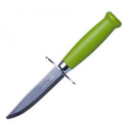 Ніж Morakniv Scout 39 Safe Green Нержавіюча сталь дерев'яна рукоять салатовий колір