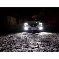 Установка LED света на Renault Megane 2018