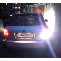 Установка светодиодной лампы 144-3014 LED на задний ход автомобиля Skoda Fabia