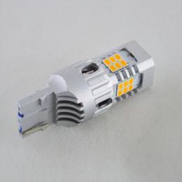 LED лампа в поворот 7440, T20, W21W, 66-2016 led , Желтый с обманкой
