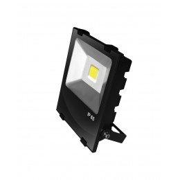 LED Прожектор EUROELECTRIC COB черный с радиатором 50W 6500K modern