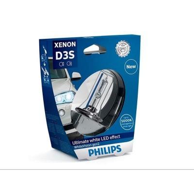 Ксеноновая лампа D3S Philips 42403WHV2S1 WhiteVision gen2 (блистер)