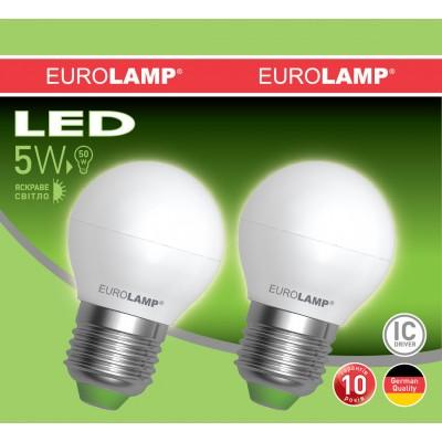 Промо-набор LED Лампа EUROLAMP EKO G45 5W E27 4000K