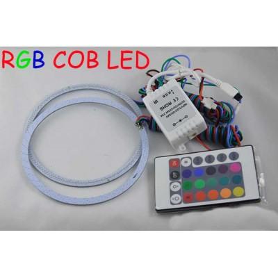 Светодиодные кольца RGB (ангельские глазки) 112-100 мм. COB  суперяркие ПАРА