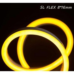 Светодиодный неон SL FLEX (Неон Флекс, FlexNeon) 8*16 мм. 120-2835 220V Желтый