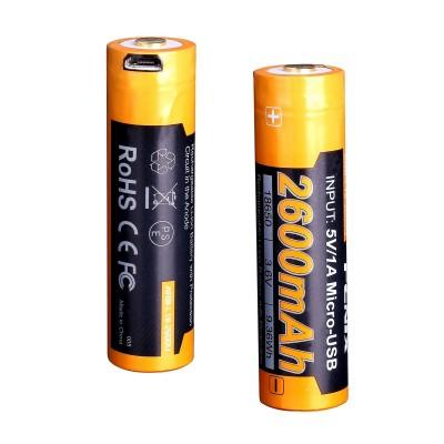Акумулятор 18650 Fenix 2600 mAh ARB-L18-2600U micro usb зарядка