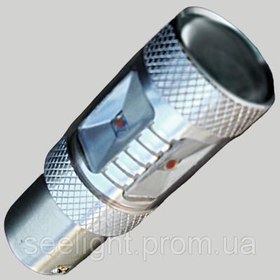 Светодиодная лампа SLP LED в задние габариты с цоколем 1156(P21W)(BA15S) Cree 30W Красный
