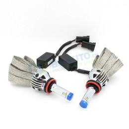 Комплект светодиодных ламп в основные фонари G9X под цоколь Н11/H8/H9/H16 23W 3600 Люмен/комплект 6000K