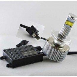 Комплект светодиодных ламп в основные фонари SLP LED под цоколь Н4 60W 3700 Люмен лампа