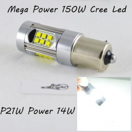 Светодиодная лампа SLP LED Cree в задний ход автомобиля с цоколем 1156(BA15S,P21W)  150W 9-30V 1400lm Белый