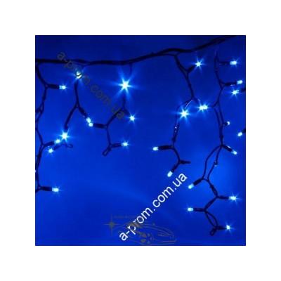 """Гирлянда светодиодная уличная """"Бахрома"""" 100ламп (LED) черный кабель (каучук), синяя, микс, белая, красная, RGB"""