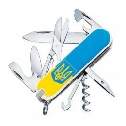 Ніж Victorinox Climber Ukraine 1.3703.7R3 тризуб жовтоблакитний