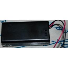 Кассета для 2 батареек типа АА с переключателем