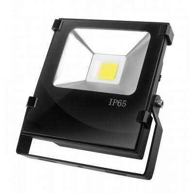 LED Прожектор EUROELECTRIC COB черный с радиатором 20W 6500K modern