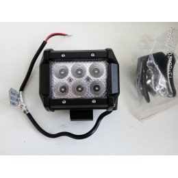 Дополнительная светодиодная фара 18W 6 Cree*3W 10-30V Рабочий свет 1260 Люмен