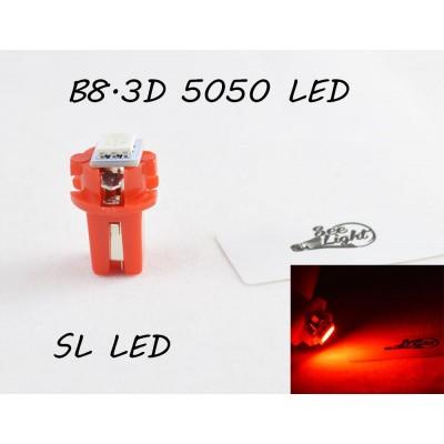 LED лампа в подсветку приборной панели, цоколь B8.3D SL LED красный