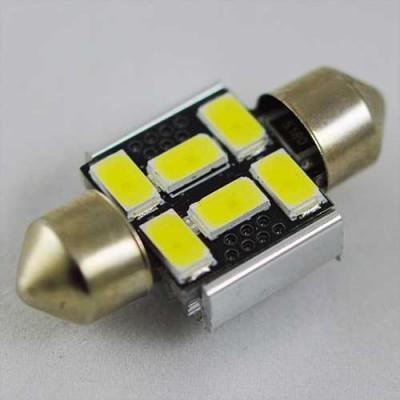 Светодиодная  лампа SLS LED с обманкой компьютера под цоколь SV8,5(C5W) 31mm 6-5630 Белый