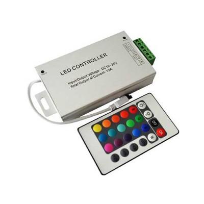 Контроллер для LED ленты RGB IK-управление 24 кнопок 144 ВТ.