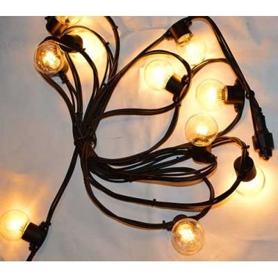Led гирлянды SL LIGHT шар G45  5 метров 10 ламп теплый белый, прозрачная колба