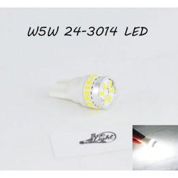 Светодиодная лампа SL LED, цоколь W5W(T10)  24 LED 3014, 12 В. Белый