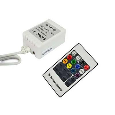 Контроллер для LED ленты RGB радиоуправление 20 кнопок 72 ВТ.
