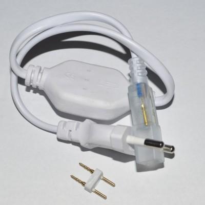 Вилка для подключения светодиодной ленты 3014, 220В в комплекте с цонтактами