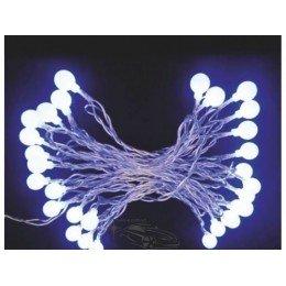 """Гирлянда светодиодная """"Шарики"""" 30 ламп(LED). Цвета светодиодов: микс (разноцветный). Цвет шнура: черный."""