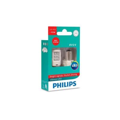 Светодиодные лампы P21W Philips 11498ULRX2 Ultinon LED (Red)