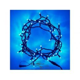 """Гирлянда уличная """"Нить"""" (String) 200LED 15м синяя, чёрный провод (каучук), светодиодная"""