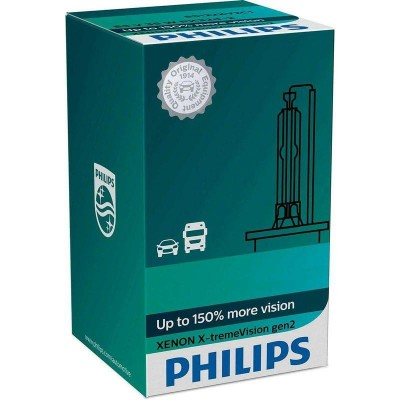 Ксеноновая лампа D4S Philips 42402XV2C1 X-tremeVision gen2 +150%
