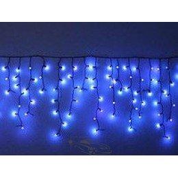 """Гирлянда светодиодная уличная """"Бахрома"""" 100ламп (LED) черный провод, синяя"""