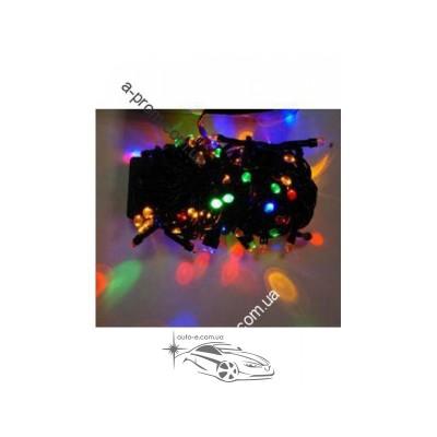 Гирлянда светодиодная линза 500ламп (LED). Цвета светодиодов: белый, синий, микс (разноцветный). Провод: чёрный.