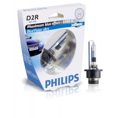 Ксеноновая лампа D2R Philips 85126BVUS1 BlueVision Ultra (блистер)