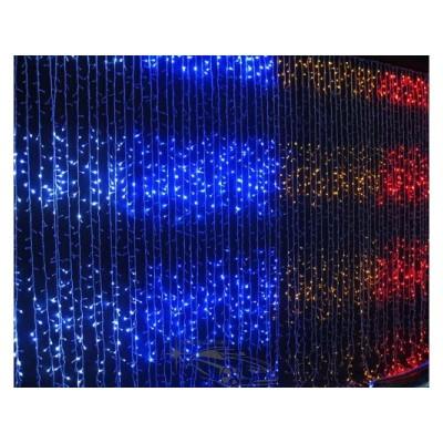 """Гирлянда светодиодная """"Водопад"""" 288ламп(LED), уличная. Цвет светодиодов: белый, синий, разноцветный, красный."""