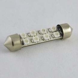 Светодиодная автомобильная лампа SV8.5 42MM 1206-8 Синий