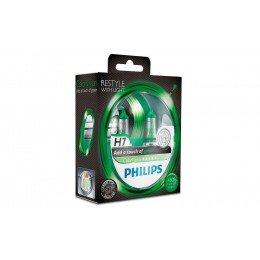 Галогенная лампа H7 Philips 12972CVPGS2 ColorVision зеленый
