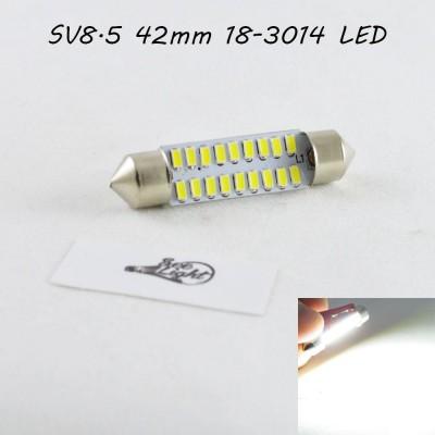 Светодиодная авто лампа SLS LED в салон или багажник  SV8,5(C10W) 41-42mm 18-3014 Белый
