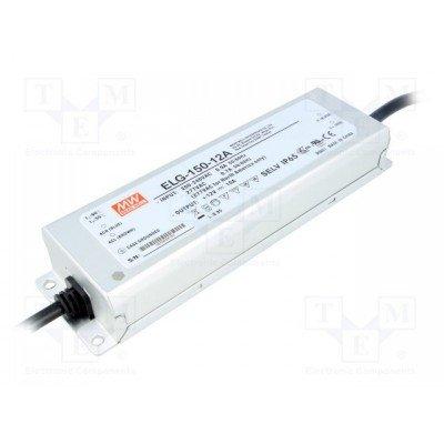 Драйвер Mean Well для светодиодов (LED) 120 Вт 12V 10 А ELG-150-12