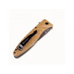 Нож Ganzo G620, желтый клинок с травлением