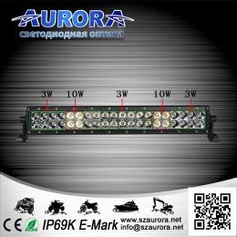 Дополнительная LED фара ALO-20-P4BT 176W 32 Oslon + 8 Cree 9-36V  IP69  16400 Люмен, Дальний свет