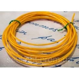Электролюминесцентный провод (холодный гибкий неон) III поколение, диаметр- 2.6мм., цвет- желтый
