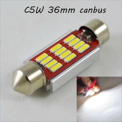 Автомобильная лампа SLS LED с обманкой в номера, салон, цоколь SV8,5(C5W) 36mm 12-4014 Белый