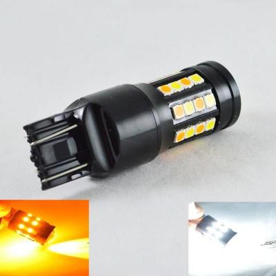 Автомобильная LED лампа SL LED, ДХО + поворот, Цоколь T20(W21/5W)(7443) 40-3030 led жёлтый/белый