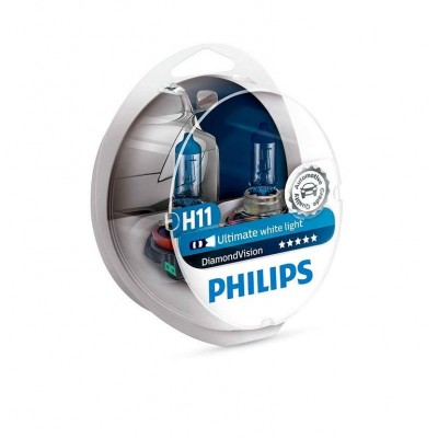 Галогенная лампа H11 Philips 12362DVS2 DiamondVision