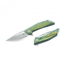 Нiж складний Bestech Knife SHRAPNEL Green and Gold BT1802B