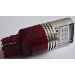 Светодиодная автомобильная лампа с цоколем T20(7440)(W21W) 9W 9-30V-Красный