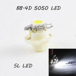 LED лампа в подсветку приборной панели, цоколь B8.4D SL LED белый
