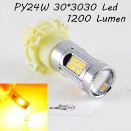 Светодиодная лампа  в поворот, SLP LED с цоколем PY24W, 9-30V, 30-3030 Желтый