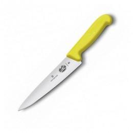 Ніж кухонний Victorinox Fibrox Carving обробний 15 см  жовтий (Vx52008.15)