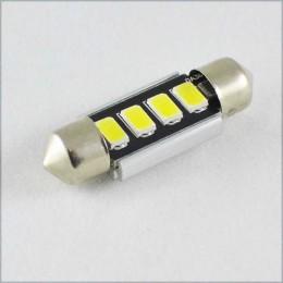 Светодиодная  лампа SLS LED с обманкой компьютера под цоколь SV8,5(C5W) 39mm 4-5630 Белый